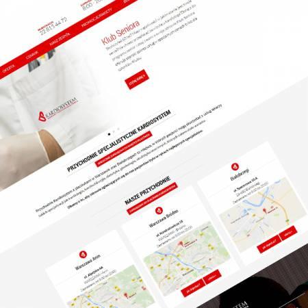 Kardiosystem, strona www, materiały reklamowe