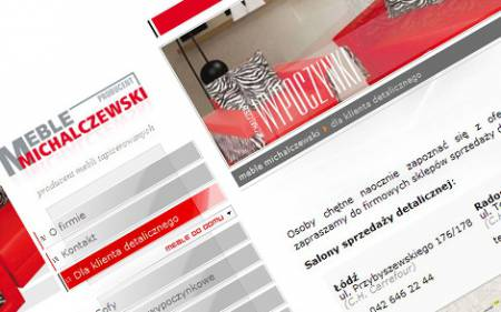 Strona www, katalog mebli
